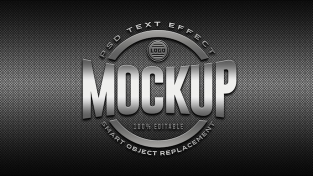 Mockup logo argento 3d