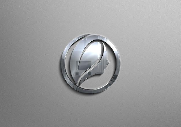 Mockup logo argento