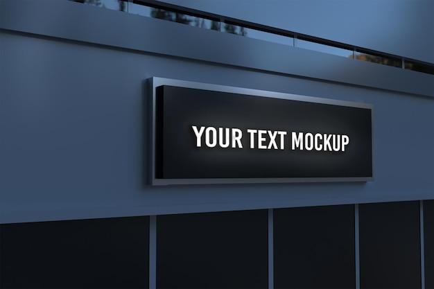 Mockup-logo met gebouw