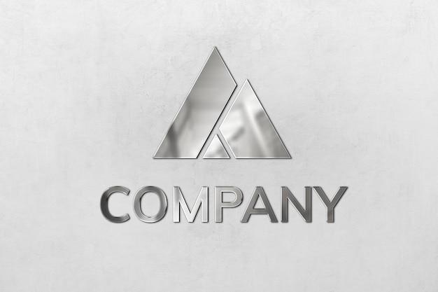 Mockup de logo en relieve psd para empresa