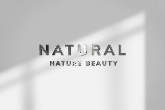 Mockup de logo en relieve psd para spa