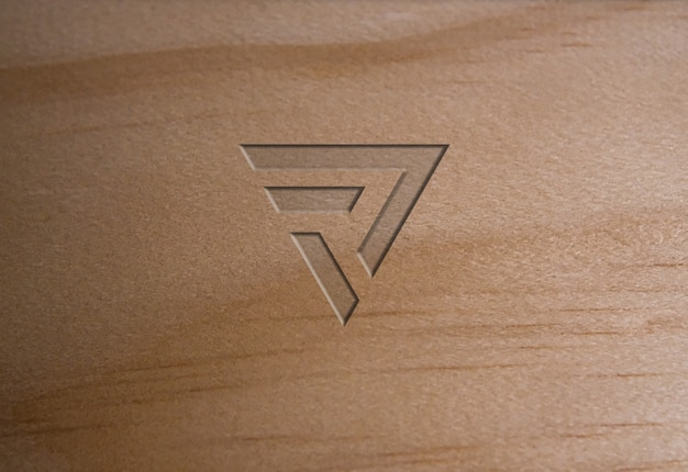 Mockup logo texture legno tenero