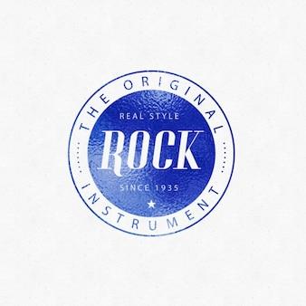 Mockup de logotipo azul