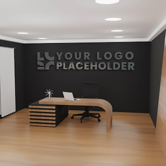 Mockup de logotipo de oficina