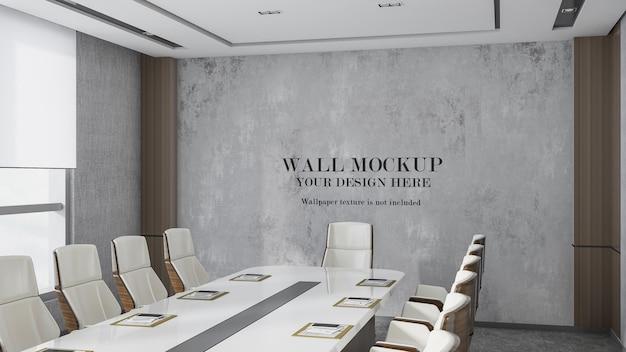 Mockup luxe vergaderruimte wandontwerp