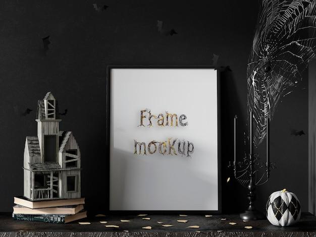 Mockup de marco de helloween psd premium