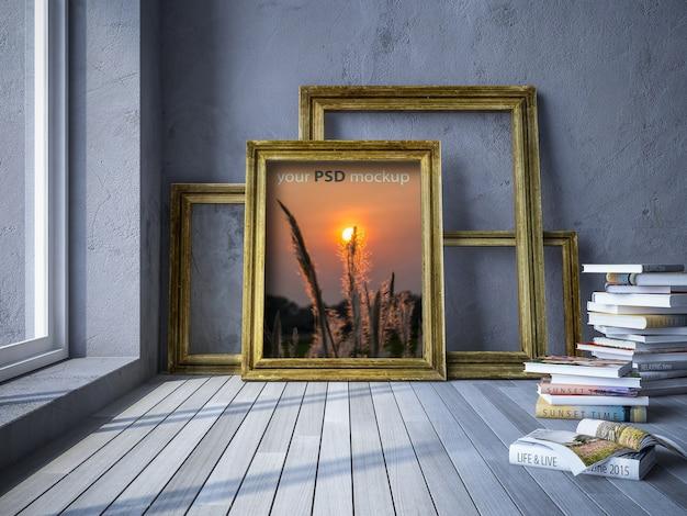 Mockup de marcos de photo