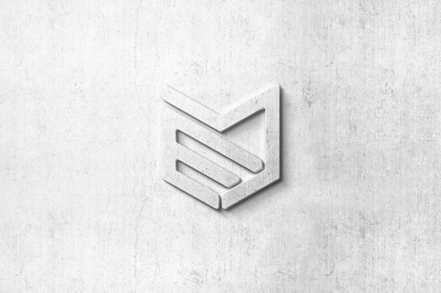 Mockup met 3d-logo