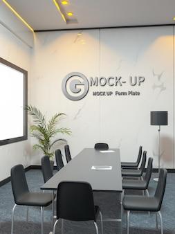 Mockup met 3d-muurlogo