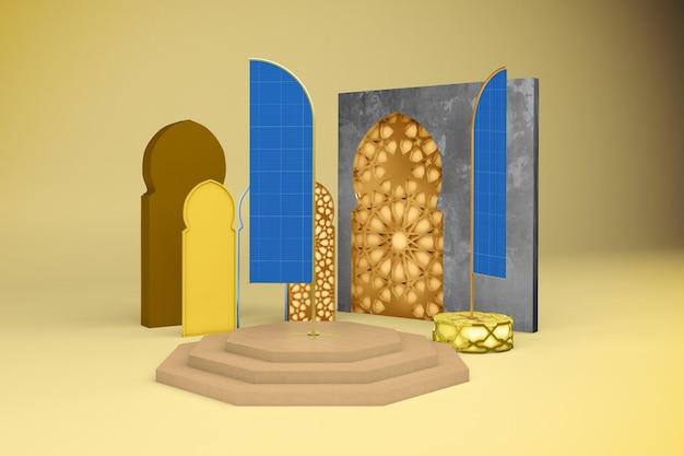 Mockup met arabische vlag