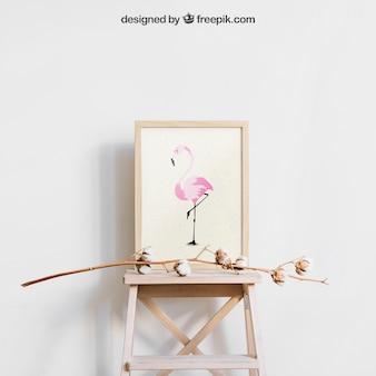 Mockup met botanisch frame