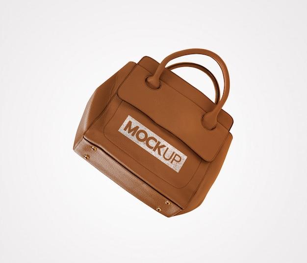 Mockup met bruine tas