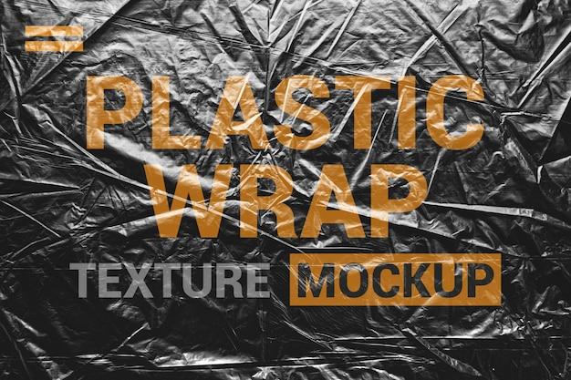 Mockup met dichte verpakkingsfolie