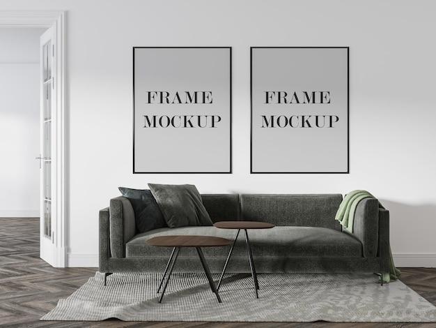 Mockup met dubbelwandig frame