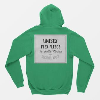 Mockup met flex-fleece met rits voor heren