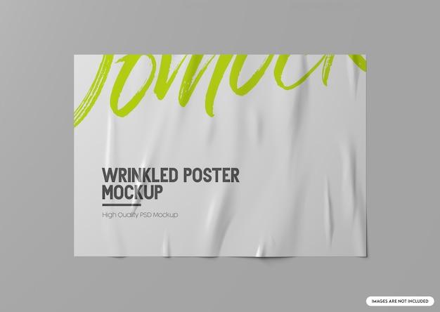 Mockup met gerimpelde poster,