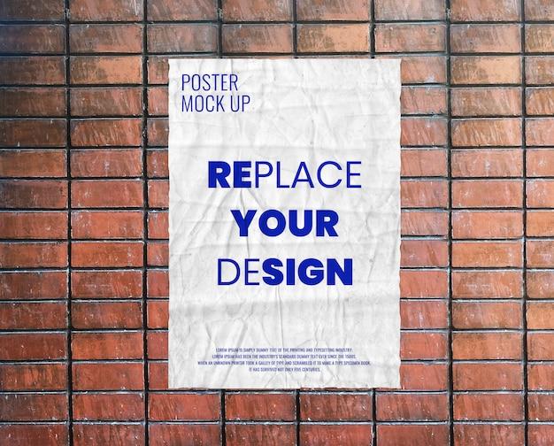 Mockup met gerimpelde poster