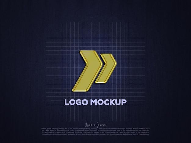Mockup met gouden logo