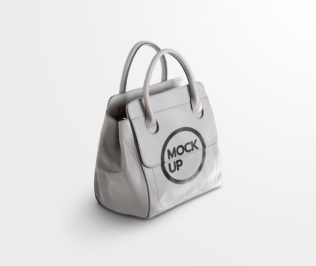 Mockup met grijze tas