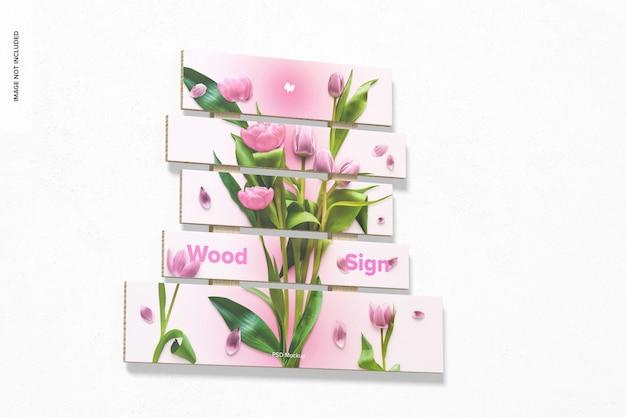 Mockup met houten bord