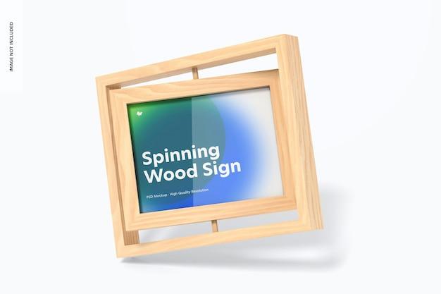 Mockup met houten framebord frame Premium Psd