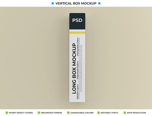 Mockup met lange doos voor productverpakking