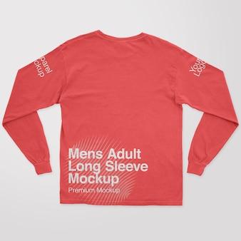 Mockup met lange mouwen voor heren voor volwassenen