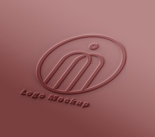 Mockup met logo en teksteffect