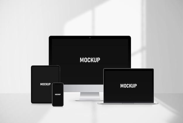 Mockup met meerdere apparaten
