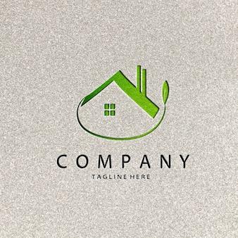 Mockup met papieren logo