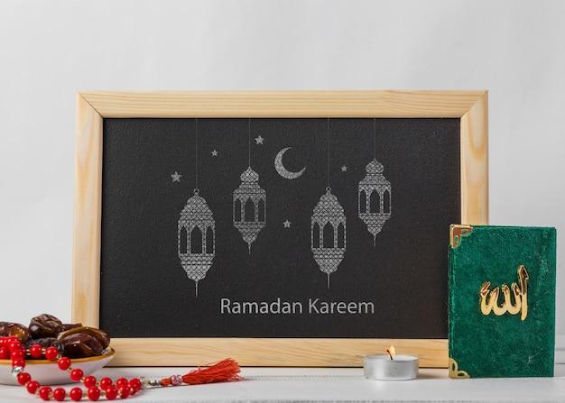Mockup met ramadan concept