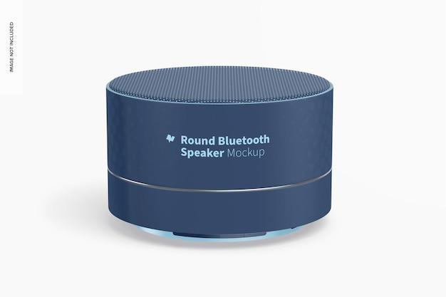 Mockup met ronde bluetooth-luidspreker, vooraanzicht