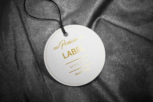 Mockup met ronde etiketten
