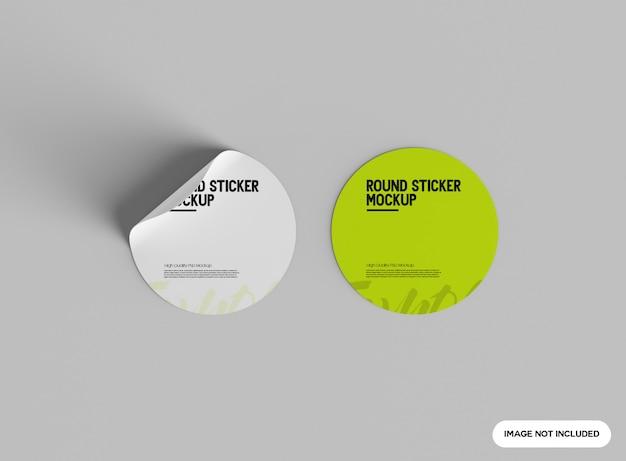 Mockup met ronde sticker