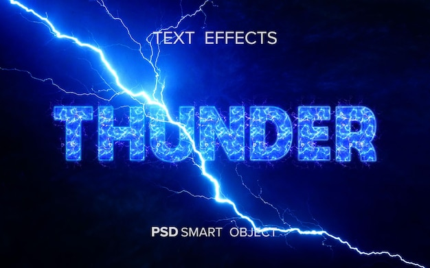 Mockup met teksteffect van donder