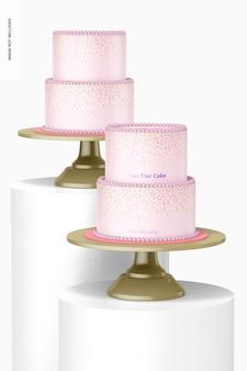 Mockup met twee lagen taarten