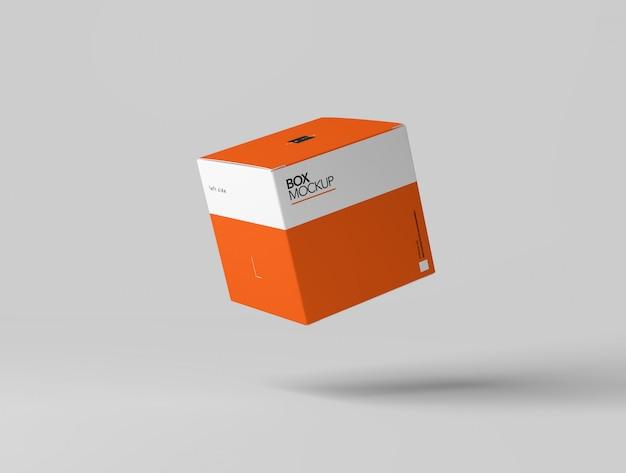 Mockup met vierkante doos