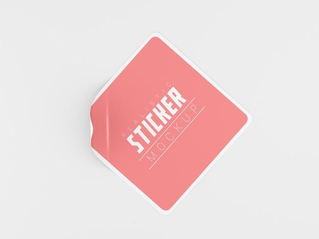 Mockup met vierkante stickers