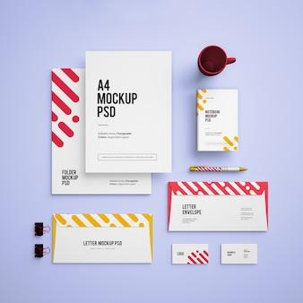 Mockup met visitekaartjes