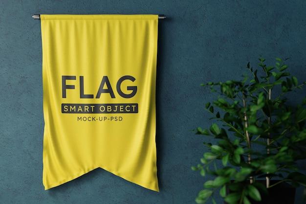 Mockup met vlaggetjes