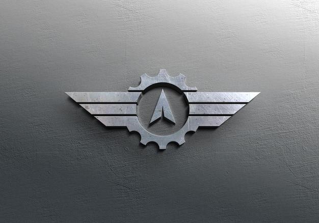 Mockup met zilveren logo