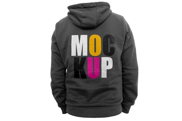 Mockup met zwarte hoodie aan de achterkant Gratis Psd