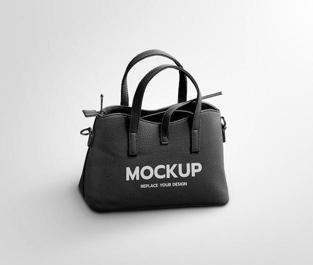 Mockup met zwarte tas