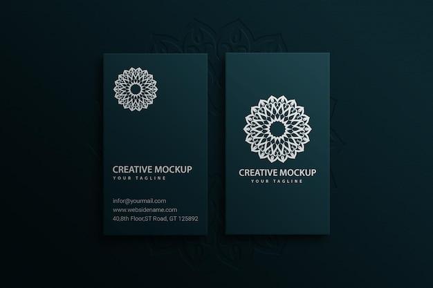 Mockup minimalista moderno de tarjeta de visita psd