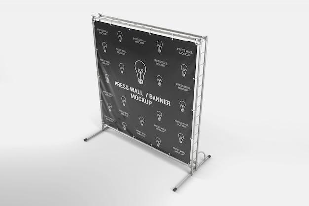 Mockup mobile porta banner quadrato in vinile