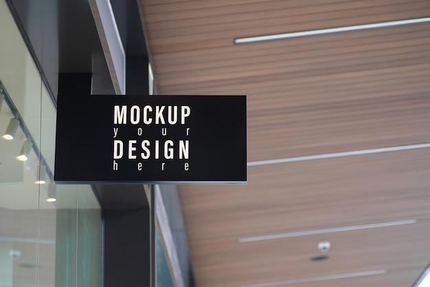 Mockup modern store uithangbord