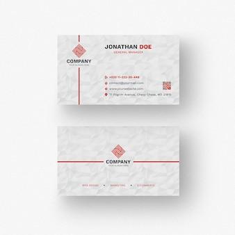 Mockup moderno blanco de tarjeta de negocios