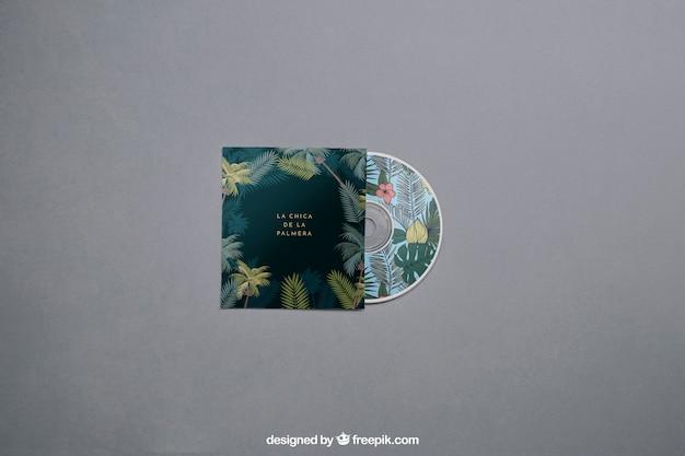 Mockup moderno de cd