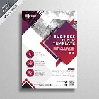 Mockup moderno de folleto de negocios
