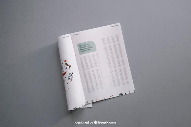 Mockup moderno de revista